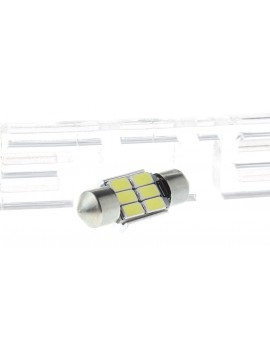 31mm 3W 6*5630 SMD 120LM 6500K Pure White LED Car Light (Pair)