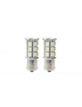 1156 3W 27*5050 270LM 6000K Pure White LED Car Turn Signal Light (Pair)