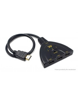3-input 1-output HDMI Switch Splitter Adapter Cable